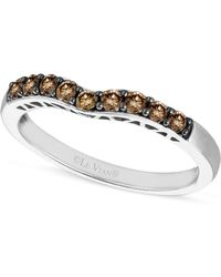 Le Vian - Chocolate Diamond Wedding Band (1/3 Ct. T.w.) In 14k White Gold - Lyst