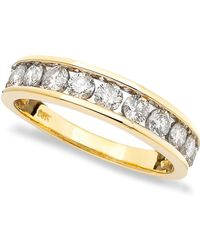 Macy's - Diamond Band (1 Ct. T.w.) In 14k Gold - Lyst