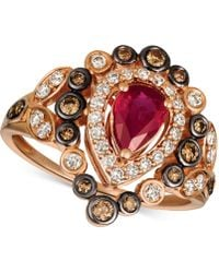Le Vian - ® Strawberry & Nudetm Passion Rubytm (5/8 Ct. T.w.) & Diamond (5/8 Ct. T.w.) Ring In 14k Rose Gold - Lyst