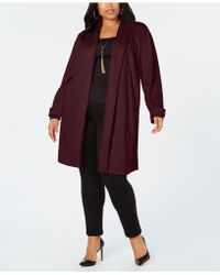 INC International Concepts - I.n.c. Plus Size Faux-suede Cocoon Jacket, Created For Macy's - Lyst
