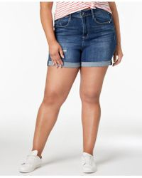 Seven7 - Trendy Plus Size Denim Shorts - Lyst
