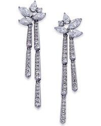 Danori - Silver-tone Marquise Cluster Dangle Drop Earrings - Lyst