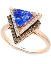 Le Vian - Tanzanite (1 Ct. T.w.) And Diamond (1/3 Ct. T.w.) Geometric Ring In 14k Rose Gold - Lyst