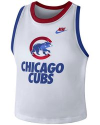 e6e6450a9604b Lyst - Nike Women s Chicago Cubs Cooperstown Tank Top in Blue
