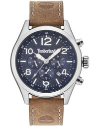 Timberland - Men's Ashmont Light Brown Leather Strap Watch 46mm - Lyst