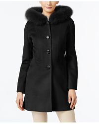 Forecaster - Fox-fur-trim Hooded Walker Coat - Lyst