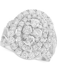 Effy Collection - Diamond Oval Cluster Ring (3-1/2 Ct. T.w.) In 14k White Gold - Lyst