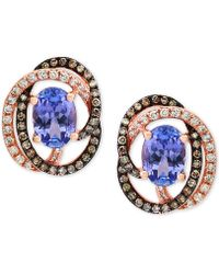 Effy Collection - Tanzanite (1-1/3 Ct. T.w.) And Diamond (1/3 Ct. T.w.) Stud Earrings In 14k Rose Gold - Lyst