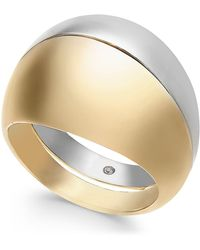 Alfani - Two-tone Wide Ring, Created For Macy's - Lyst
