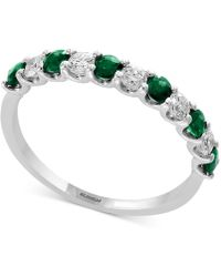 Effy Collection - Gemstone Bridal By Effy® Sapphire (1/2 Ct. T.w.) & Diamond (1/4 Ct. T.w.) Band In 18k White Gold - Lyst