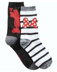 Disney - Women's 2-pk. Boxed Minnie Mouse Crew Socks - Lyst