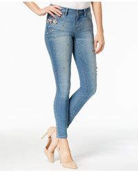 Earl Jean - Embellished Skinny Jeans - Lyst