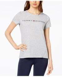 40c67549896 Lyst - Tommy Hilfiger Plus Size Short-sleeve Heart-graphic T-shirt ...