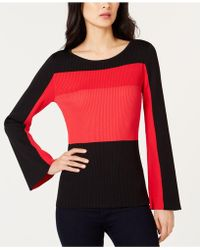 INC International Concepts - I.n.c. Colorblocked Bell-sleeve Sweater, Created For Macy's - Lyst