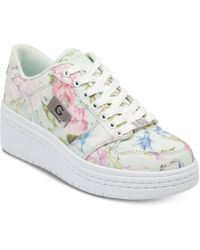 654148a444ea Lyst - G by Guess G By Guess Shoes Raurie Glitter Wedge Sneakers in Gray