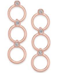Kate Spade - 14k Gold-plated Crystal & Circle Triple Drop Earrings - Lyst