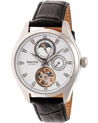 Heritor - Automatic Sebastian Silver Leather Watches 40mm - Lyst