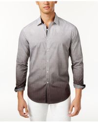INC International Concepts - Men's Ombré Geometric Pattern Shirt - Lyst