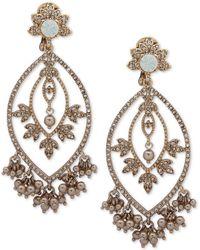 Marchesa - Goldtone & Glass Bead Teardrop Chandelier Earrings - Lyst