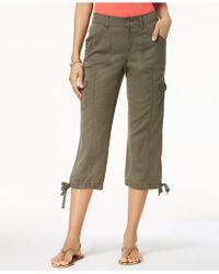 Style & Co. - Petite Tie-hem Cargo Capri Pants, Created For Macy's - Lyst