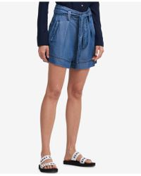 DKNY - Belted Shorts - Lyst