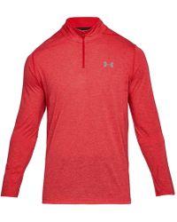Under Armour - Threadborne Performance Quarter-zip Long-sleeve Pullover Shirt - Lyst