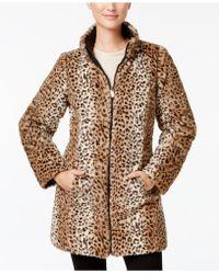 Jones New York - Reversible Faux-fur Coat - Lyst