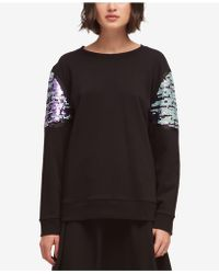 DKNY - Sequin-trim Sweater, Created For Macy's - Lyst