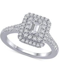 Marchesa - Certified Diamond Engagement Ring (1 Ct. T.w.) In 18k White Gold - Lyst