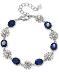 Badgley Mischka - Silver-tone Crystal & Colored Stone Link Bracelet - Lyst