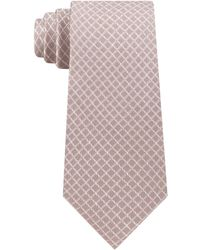Michael Kors - Small Satin Grid Silk Tie - Lyst