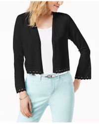Charter Club - Cropped Geo-cutout Cardigan, Created For Macy's - Lyst