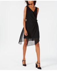 Adrianna Papell - Chiffon Wrap A-line Dress - Lyst