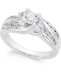 Macy's - Diamond Swirl Bridal Ring (1 Ct. T.w.) In 14k Gold Or White Gold - Lyst