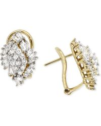 Wrapped in Love - Diamond Cluster Earrings (1 Ct. T.w.) In 14k Gold - Lyst