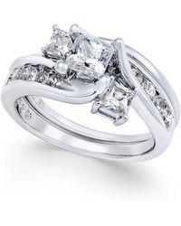Macy's - Diamond Interlocking Bridal Set (1-1/2 Ct. T.w.) In 14k White Gold - Lyst