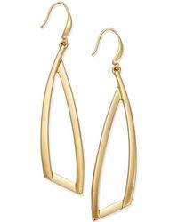 INC International Concepts - Gold-tone Triangle Drop Earrings - Lyst