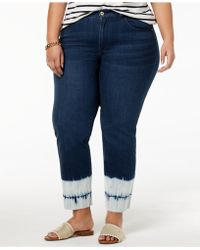 Tommy Hilfiger - Plus Size Tie-dyed-hem Ankle Jeans, Created For Macy's - Lyst