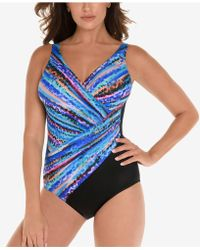 Miraclesuit - Animal Spectrum Printed Twist-front Allover Slimming One-piece Swimsuit - Lyst