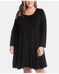 e0279b035c Calvin Klein Dakota Icon T-shirt Dress in Black - Lyst