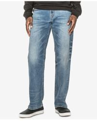Silver Jeans Co. | Gordie Loose-fit Straight Stretch Jeans | Lyst