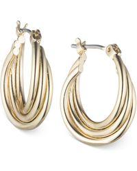 Nine West - Twisted Hoop Earrings - Lyst