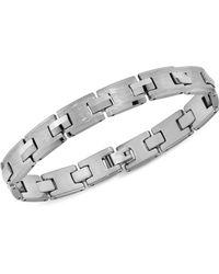 Macy's - Brushed Link Bracelet In Tungsten - Lyst