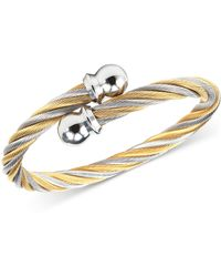 Charriol | Women's Celtic Two-tone Pvd Stainless Steel Cable Bangle Bracelet 04-801-1216-0s | Lyst