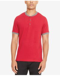 Kenneth Cole Reaction - Men's Henley Polo - Lyst