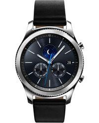 Samsung - Men's Gear S3 Classic Smart Watch With 46mm Case & Black Leather Strap Sm-r770nzsaxar - Lyst