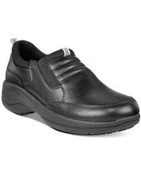 523574b84d0 Alegria Taylor Stain-resistant Leather Penny Loafers in Black - Lyst