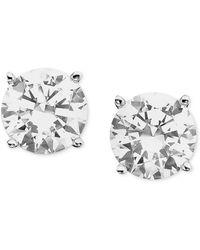 Macy's - Certified Diamond Stud Earrings (1/2 Ct. T.w.) In 18k White Gold - Lyst