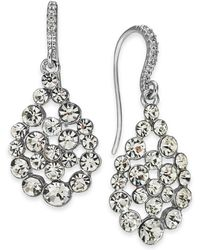 INC International Concepts - I.n.c. Silver-tone Crystal Drop Earrings, Created For Macy's - Lyst