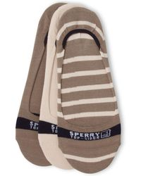 Sperry Top-Sider - No-show Socks 3-pack - Lyst